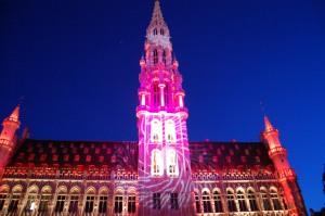 Light show at the Grand Place