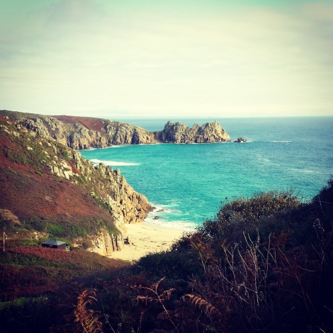 A breathtaking view - Porthcurno beach