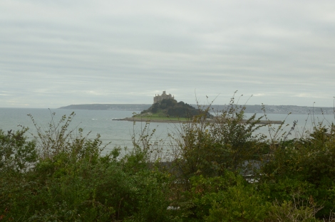 View of St Michael's Mount from our hotel balcony
