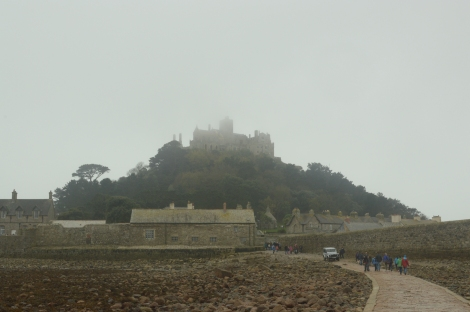 The weather at St Michael's Mount was very overcast, but it made it look very atmospheric.