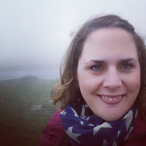 Haytor was in the fog behind me, apparently! (I'm wearing my Hugo stars scarf)