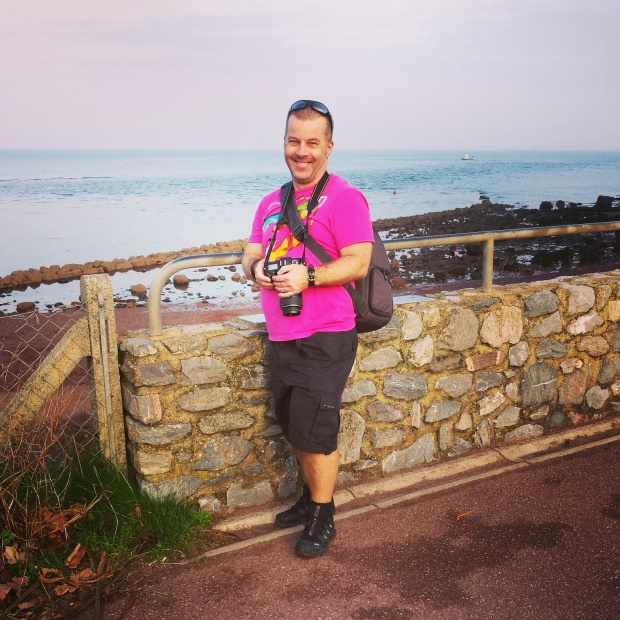 The weather in south Devon was so good Martin was in shorts and tshirt - on October 30!