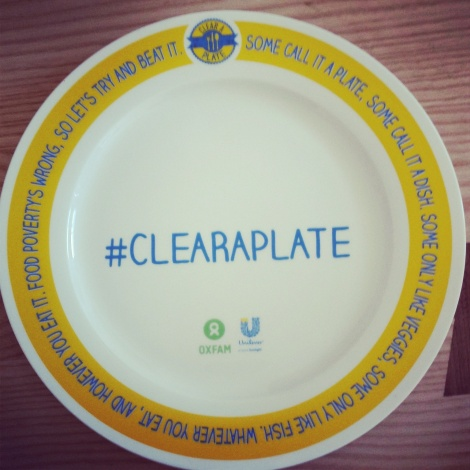 Changing the world: #clearaplate helping to reduce food poverty.