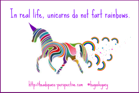 Unicorn farting rainbows