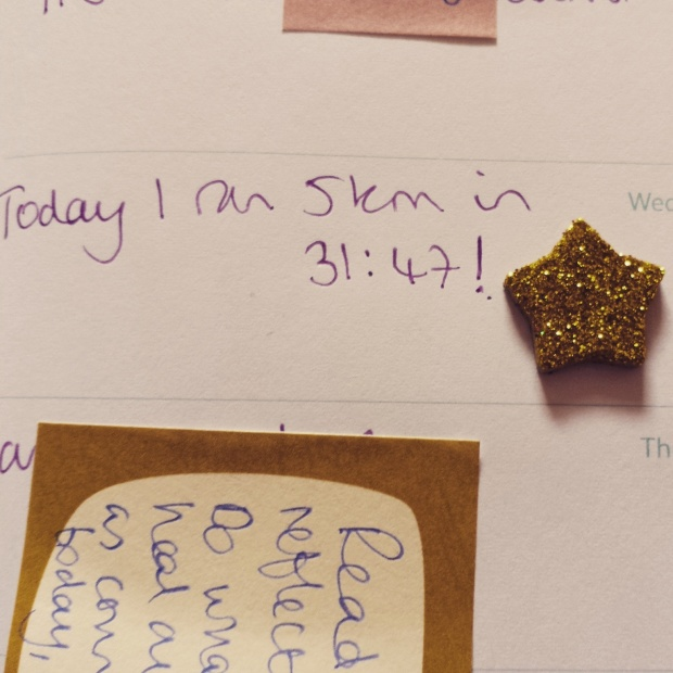 I was so proud, I recorded the event in my diary, and awarded myself a gold star.