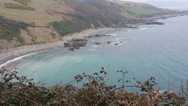 A view from the cliffwalk from Looe to Polperro.