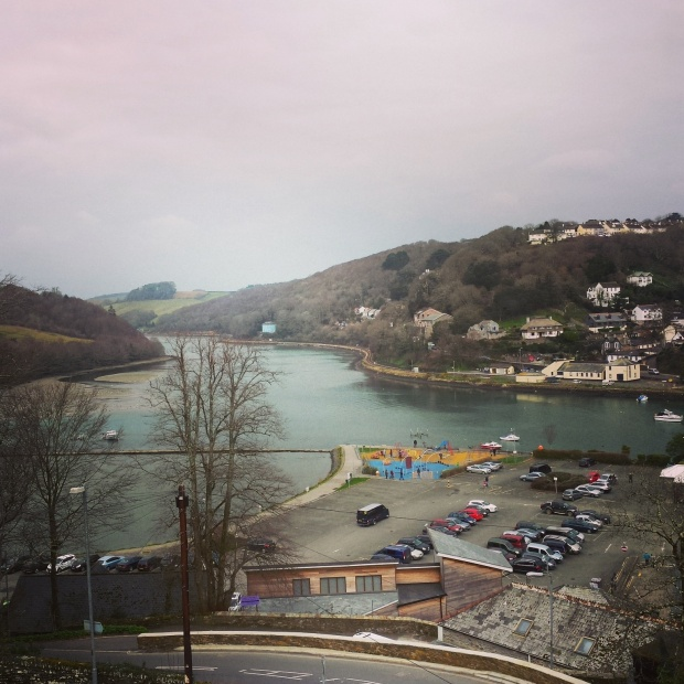 The view from our room in Looe.