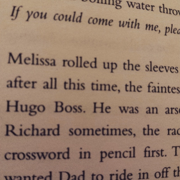 A mention of Hugo Boss in a book.