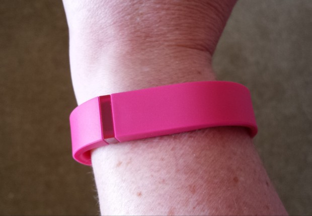 Bright pink Fitbit