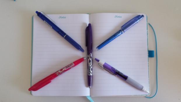 Pretty coloured pens.