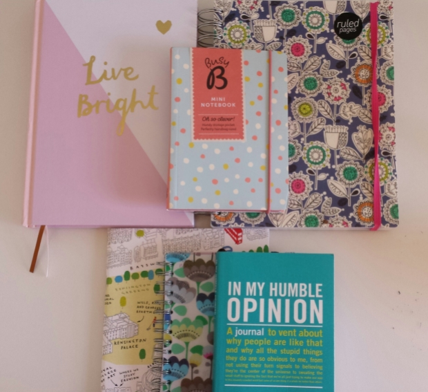 Selection of pretty notebooks.