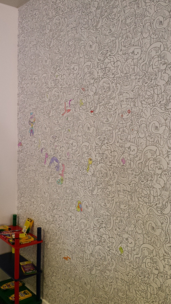 A colouring-in wall!