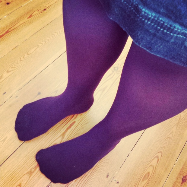 Or coloured opaque tights!