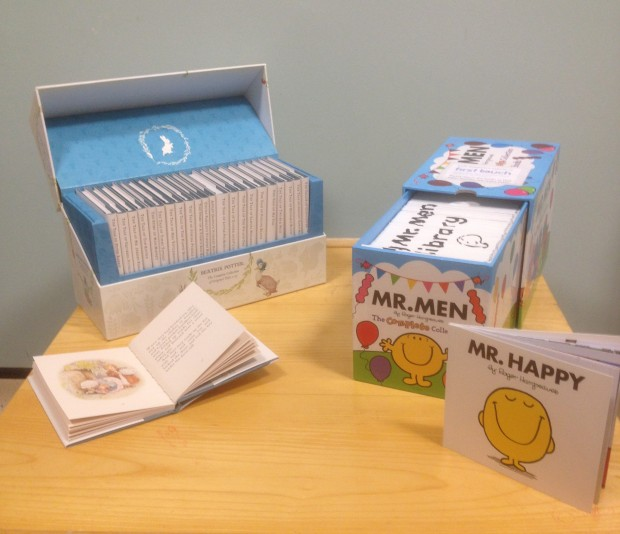 Mr Men and Beatrix Potter book box sets.