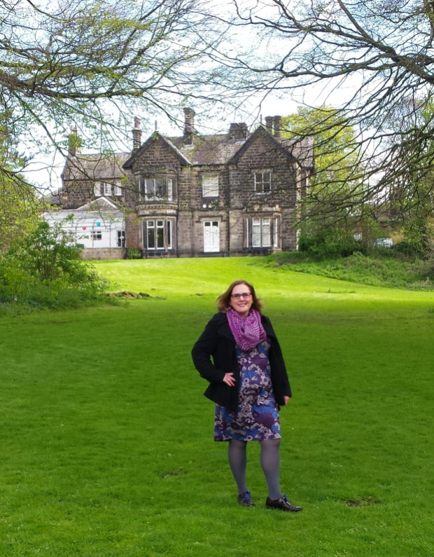 Me, with Moor Grange in the background.